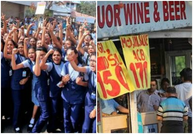 Students protests forces the Kerala Govt to close the liquor outlets