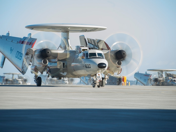 Five E-2D Advanced Hawkeye aircraft arrived to boost Japan's strength
