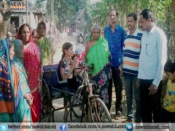 Minati Barik, a physically challenged in Odisha feels no challenge in contesting rural polls!