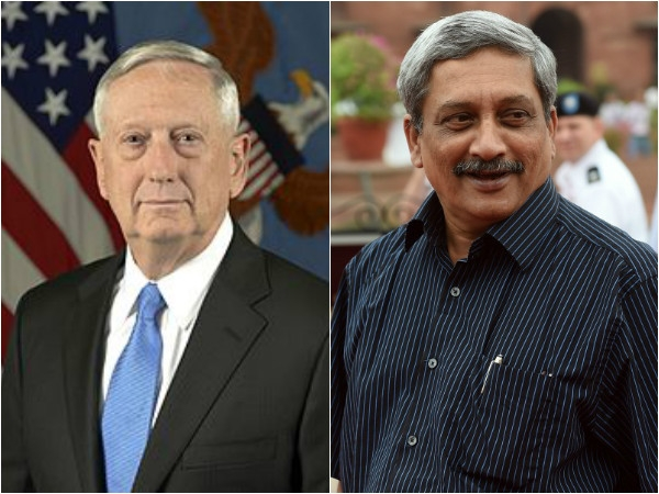 US Defence Secretary Mattis call on Parrikar; both firm on partnership in defence sector