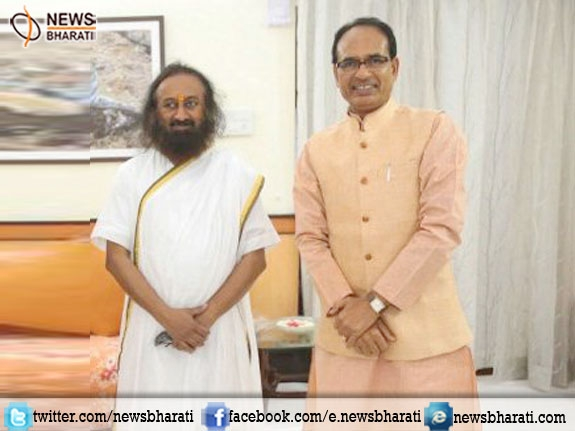 CM Shivraj Chouhan is doing saints work in politics says Shri Shri Ravishankar