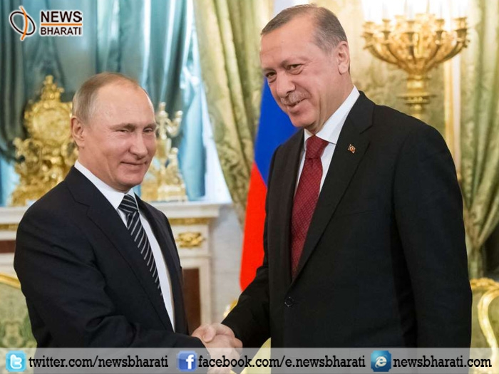 Putin, Erdogan vows to improve bilateral ties; pledges for cooperation to help end Syria war