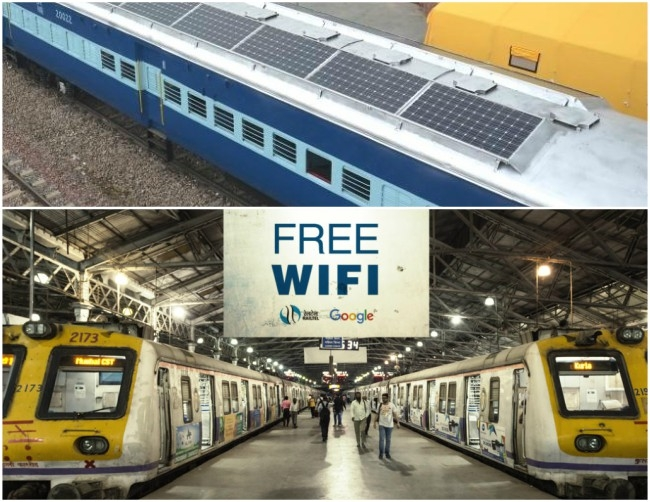 Indian Railways soon to provide Wi-Fi in running trains and solar roof tops to combat climate issues