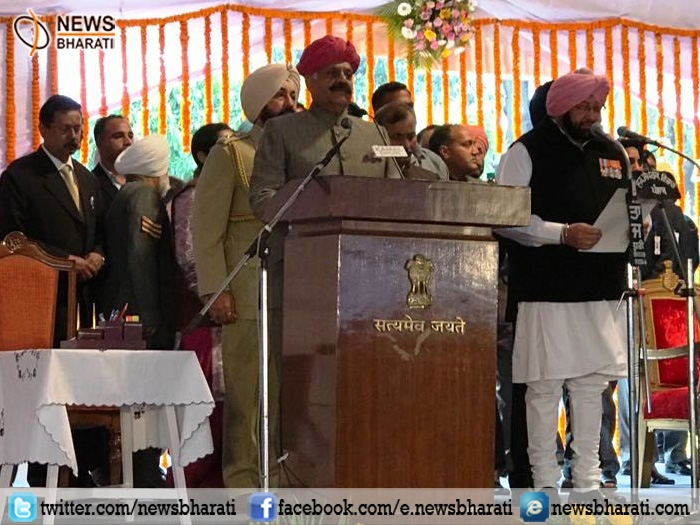 Captain Amarinder Singh takes oath as CM of Punjab; Sidhu gets ministerial berth