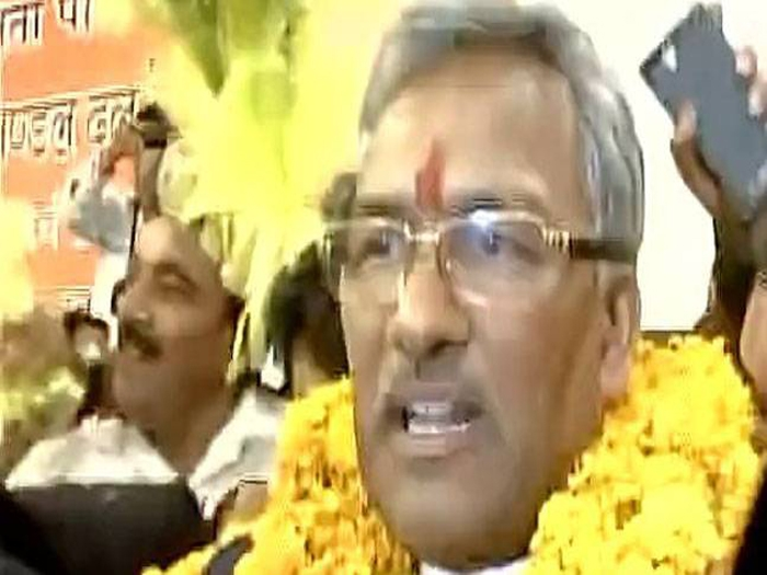 Trivendra Singh Rawat elected as U'khand Chief Minister