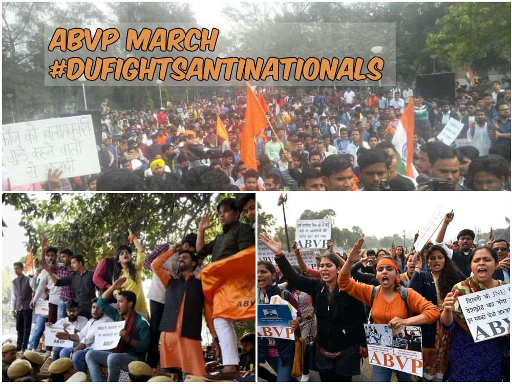 Youth of India came together against commies and Jihadis of AISA #DUFightsAntiNationals