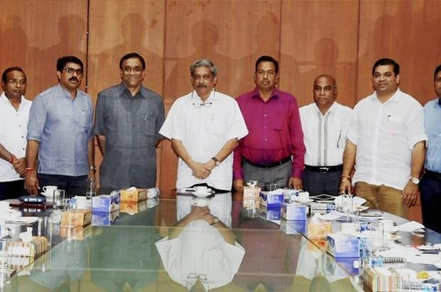 Goa cabinet : CM  Manohar Parrikar retains  Finance, Home and Transport