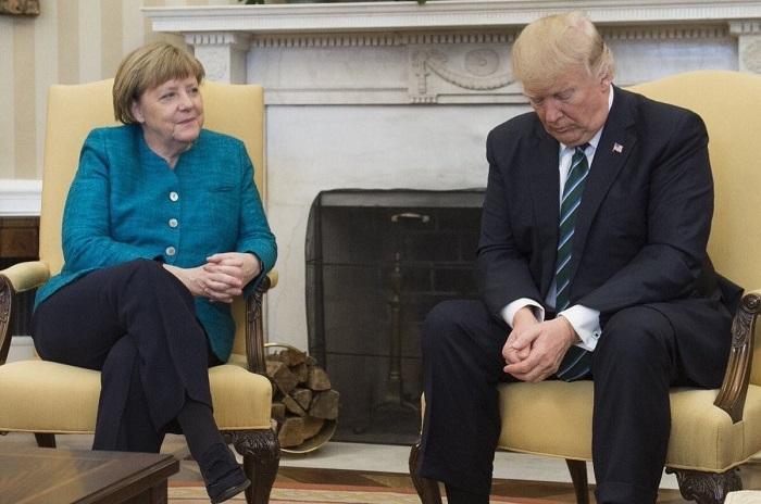 Trump denies Merkel a handshake