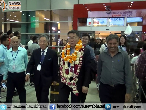 In a bid to promote tourism Taiwan's Ko Wen-je arrived India