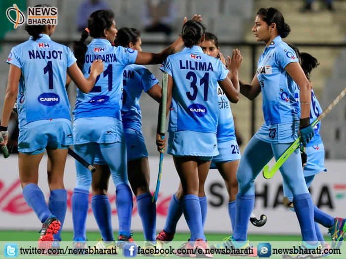 India's women's hockey defeats Belarus by 3-1; clinch series 5-0