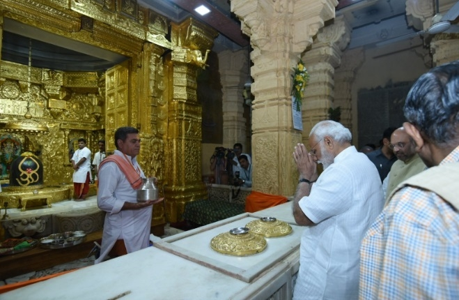 PM Narendra Modi attends special Pooja at Somnath temple