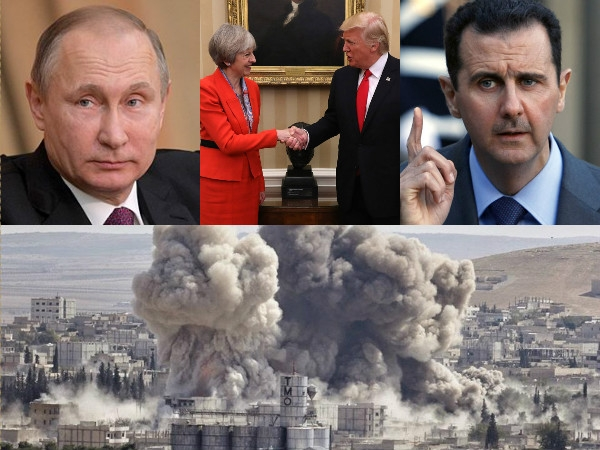 Trump, May to suppress Russia for abandoning Assad over Syrian crisis