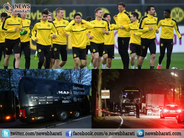 Football player Marc Bartra injured in Borussia Dortmund attack in Germany