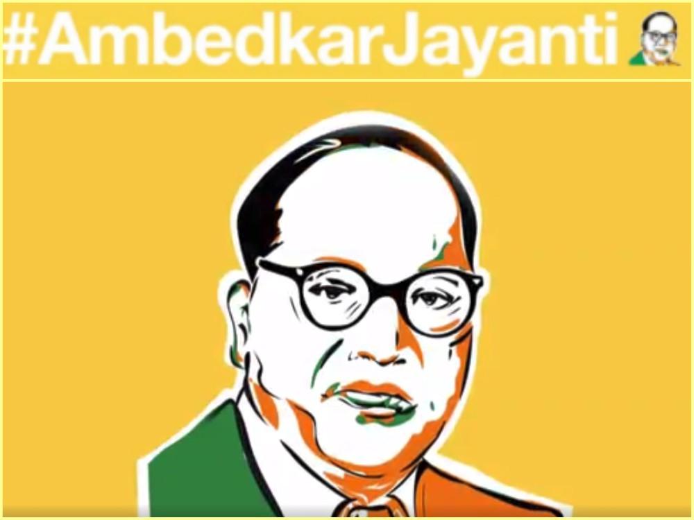 Twitter salutes iconic Dr. Ambedkar with emoji hashtags #ambedkarjayanti