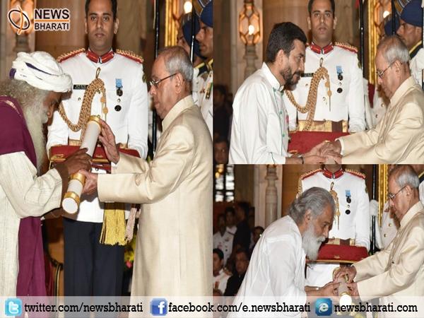 Prez Pranab Mukherjee confers Padma Vibhushan to eminent personalities