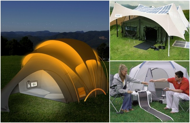 California group to come up with Camping tent installed with Solar panel