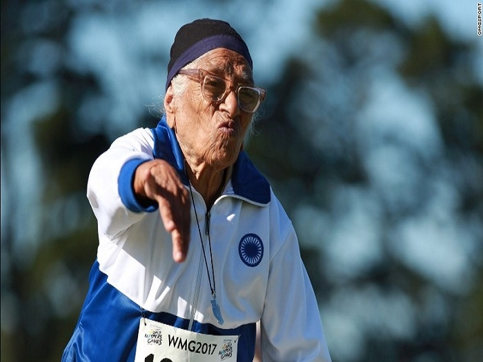 101-year-old Indian woman athlete wins 3 golds in World Masters Games