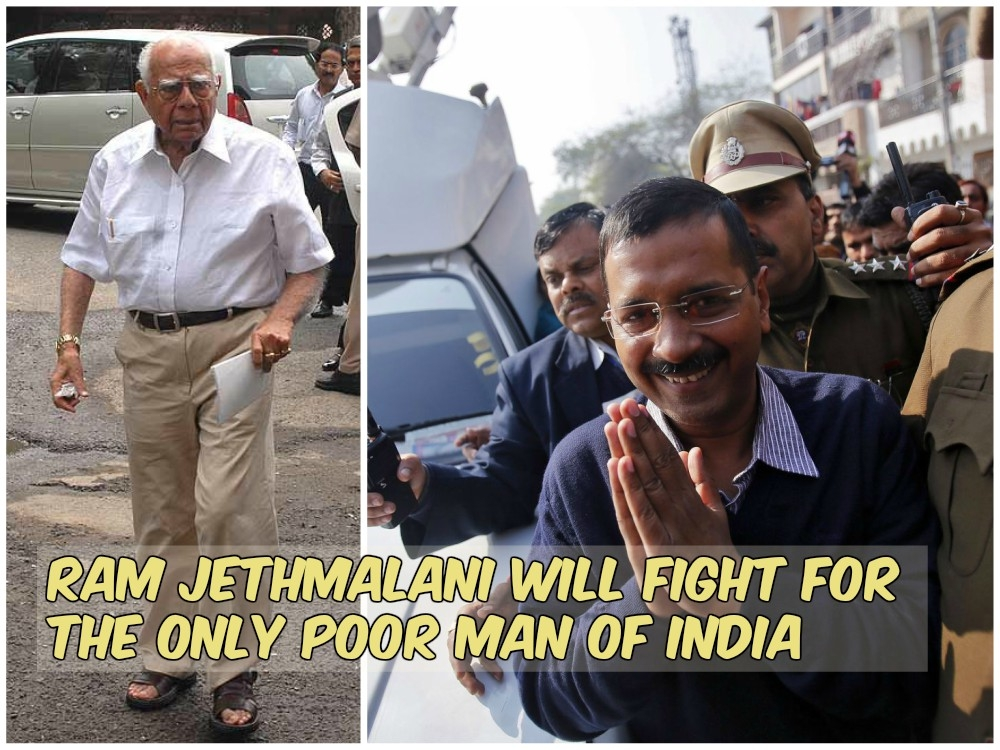 Kejriwal paying legal fees from taxpayer money; Jethmalani calls him 'poor' working for 'free'