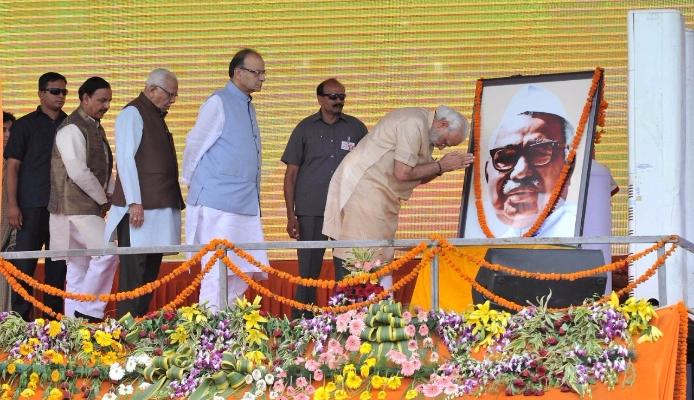 Ministers gave tribute to Jagjivan Ram on his 110th Anniversary