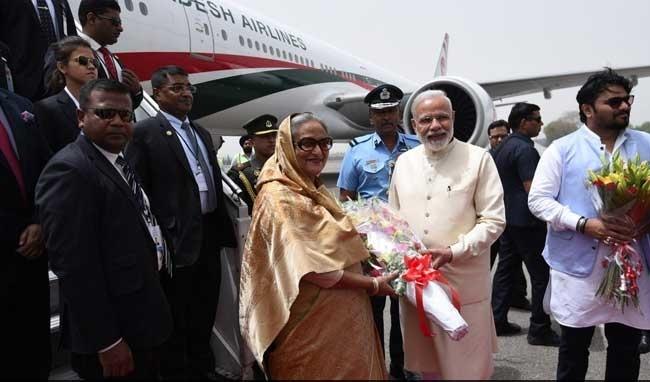 PM Modi welcomes Bangladesh Prime Minister Shiekh Hasina at Delhi airport