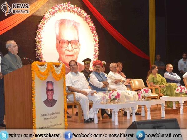 Pranab Mukherjee delivers 1st  Bhairon Singh Shekhawat Memorial lecture