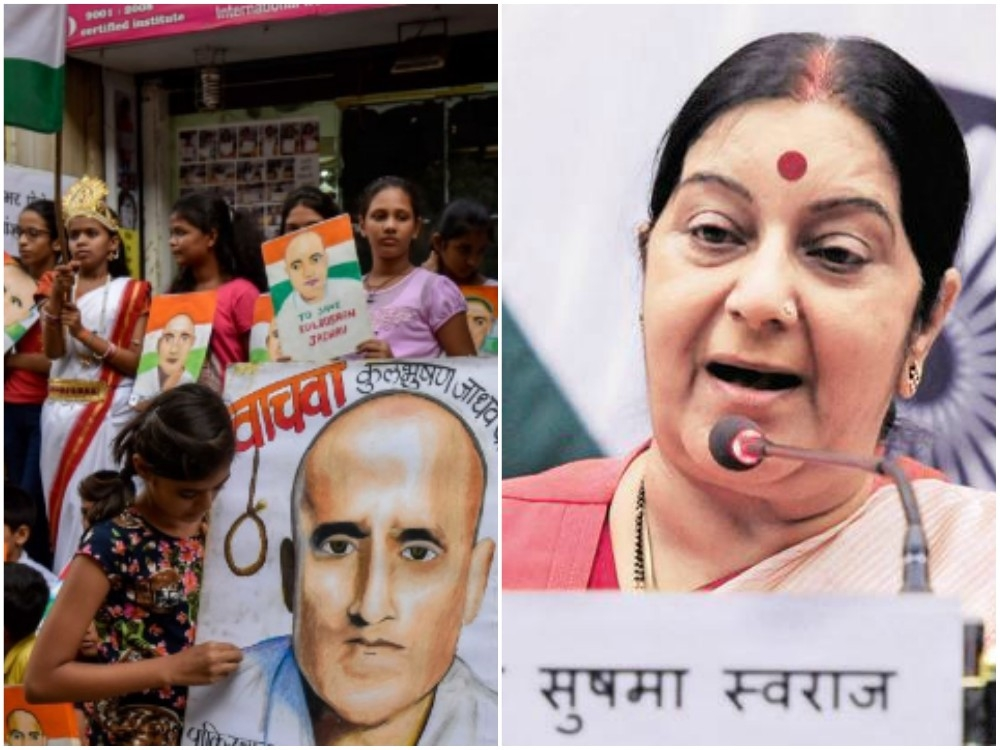 'Govt will leave no stone unturned to save #KulbhushanJadhav', assures Sushma