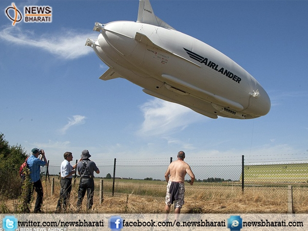 World's Largest Aircraft 'Airlander 10' rose up in the sky again; successfully completes test flight