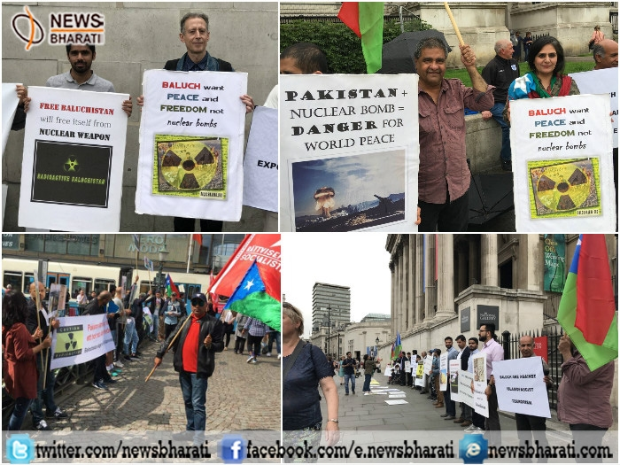 Baloch protests across Europe and US: Slams Pakistan nuclear test in 1998