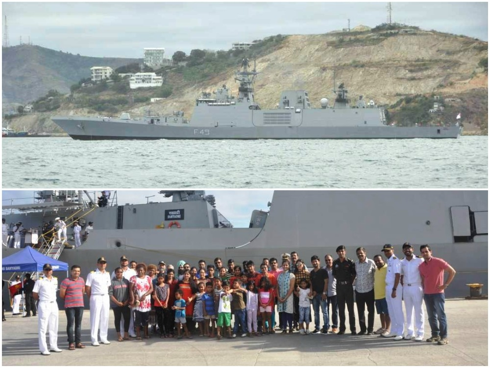 INS Sahyadri makes port call for four days at Papua New Guinea