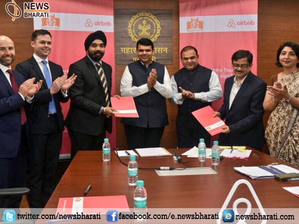 Airbnb and Maharashtra signed first commercial revenue sharing MoU to boost Tourism