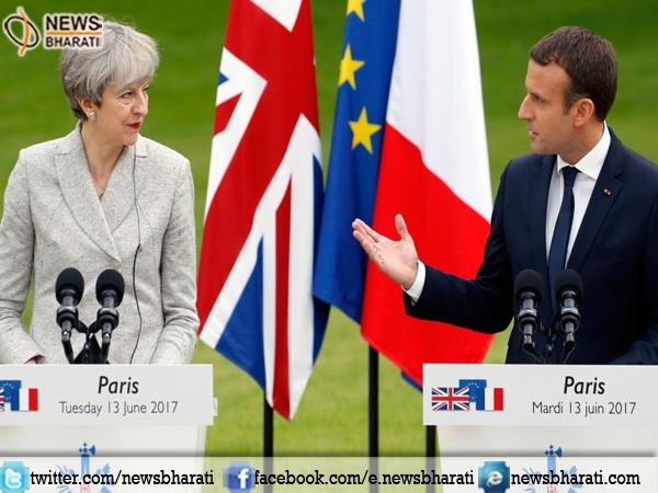 Macron meets May in Paris; says UK can 'always' change its mind on Brexit