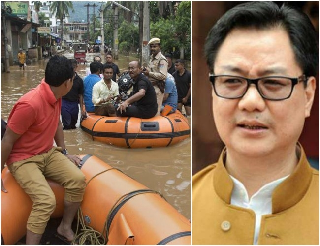 Home Ministry is constantly monitoring Northeast's heavy flood situations: Kiren Rijiju