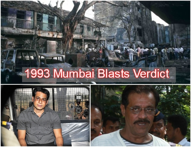 #1993Mumbaiblasts : TADA Court convicts Mustafa Dossa, Abu Salem, Tahir Merchant and Firoz Khan as main conspirators
