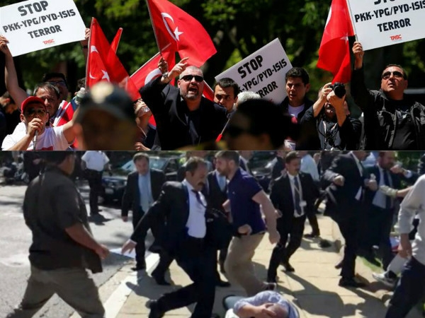 Erdogan decries US arrest warrants for 12 members of his security in Washington brawl