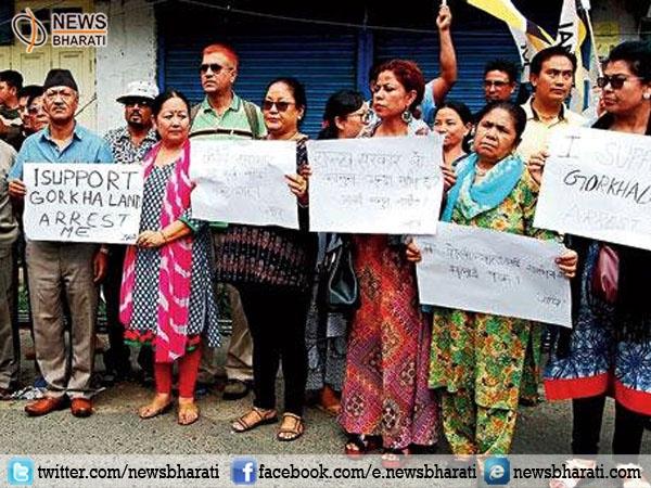 GJM Media Manager arrested in Darjeeling triggering intense protest