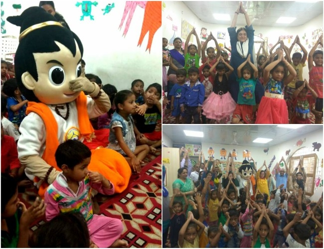 Puppets do Yoga too!  Celebrations of #InternationalYogaDay kicks off in Anganwadi centres