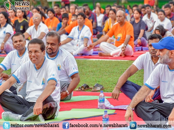 Welcoming PM Modi, Sri Lanka Prez cherishes importance of celebrating #InternationalYogaDay