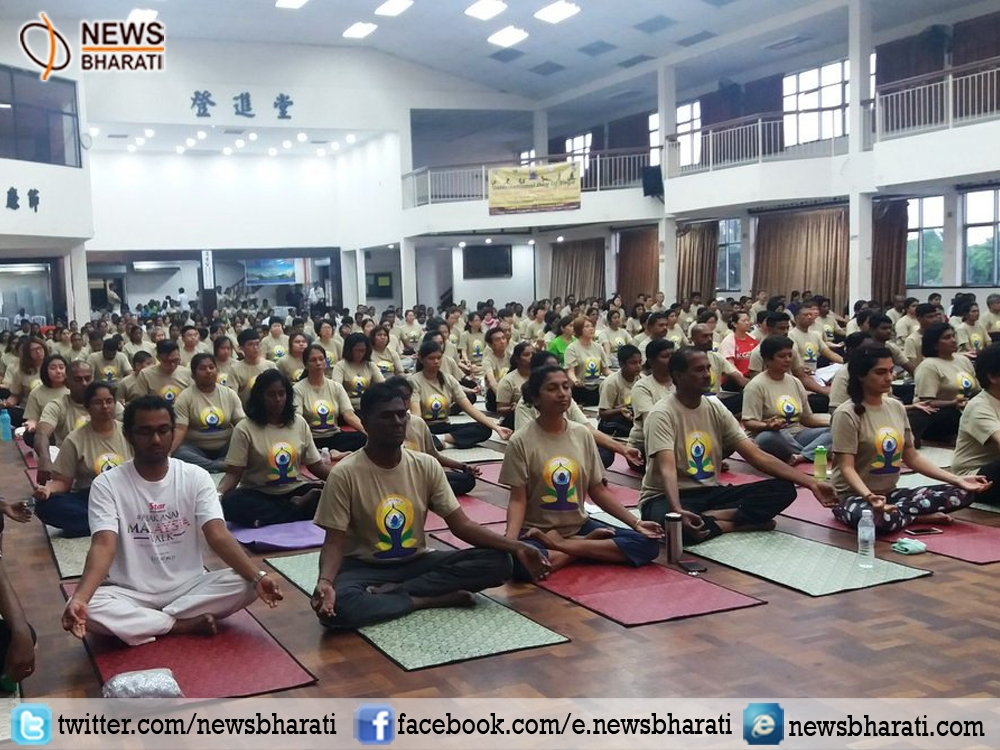 Over 500 people wake up to 3rd #InternationalYogaDay celebration in Malaysia