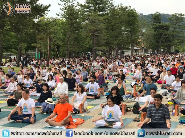 Japan starts the celebration of International yoga Day