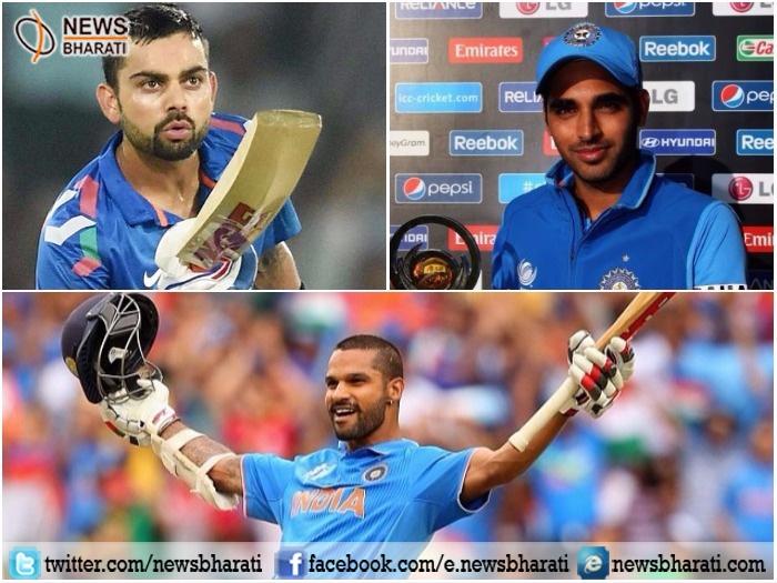 ICC picks Kohli, Dhawan, Bhuvneshwar Kumar in Champions Trophy 2017 team