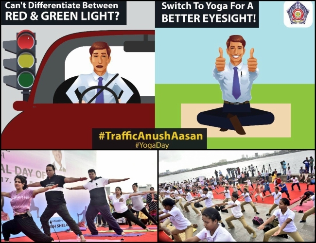 Mumbai Police urge people to switch to 'Yoga' with creative concept of 'Traffic AnushAasan'
