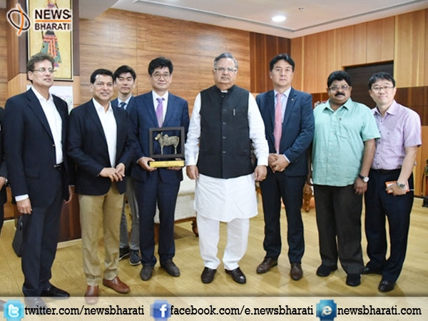 S Korean delegation meets CM Raman; express desire to invest in infrastructure projects