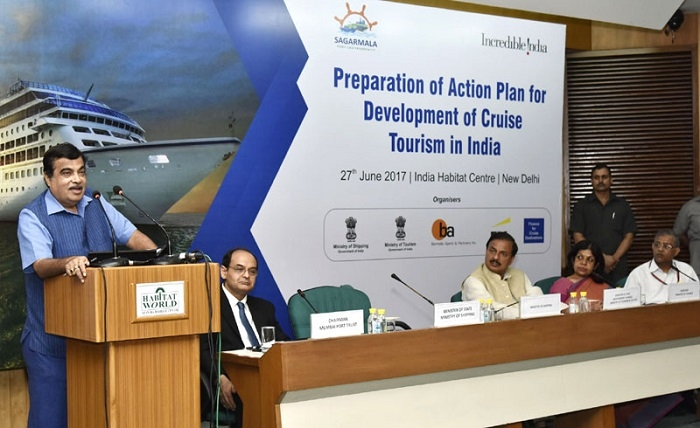 Union Minister Nitin Gadkari pitches for cruise tourism