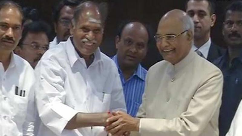Ram Nath Kovind seeks support from Puducherry, Tamil Nadu legislators