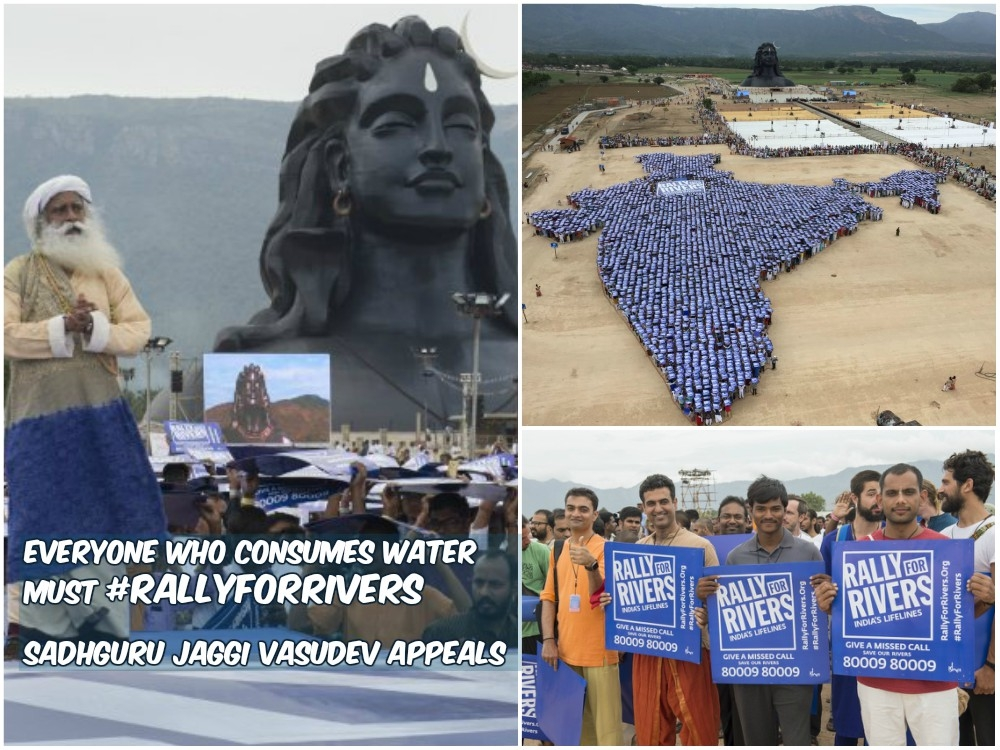 Everyone who consumes water must #RallyforRivers; Sadhguru Jaggi Vasudev appeals