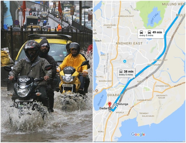 Navigation gets easy as Google Maps add new blue roads feature for Mumbaikars to help during rains