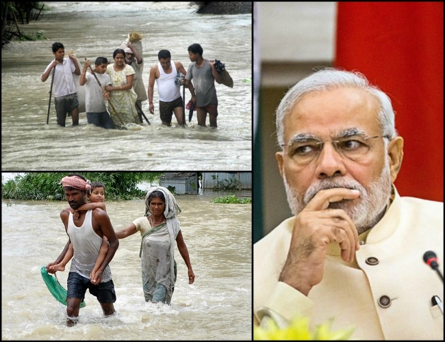 Expressing grief, PM Modi says 'India stands with the people of NE affected by massive floods'