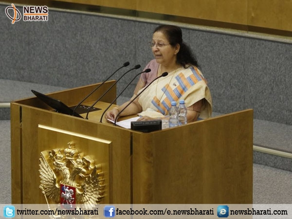 Terrorism to be countered in a decisive and collective manner, Loksabha speaker says  in Moscow
