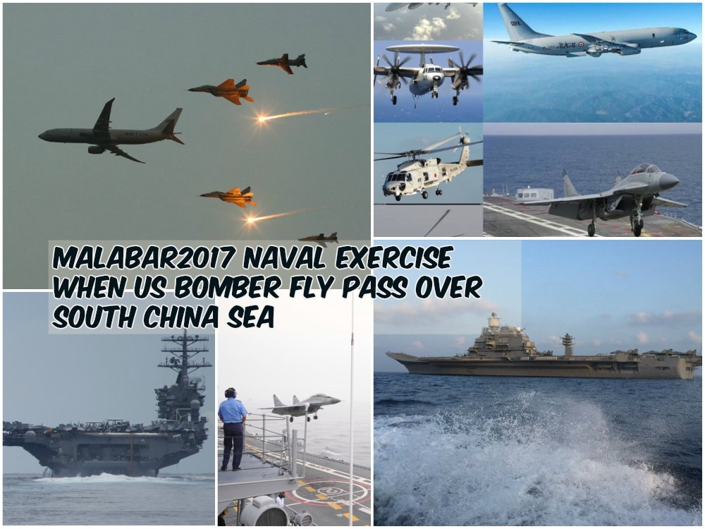 #Malabar2017 : When US bomber Fly Pass over South China Sea
