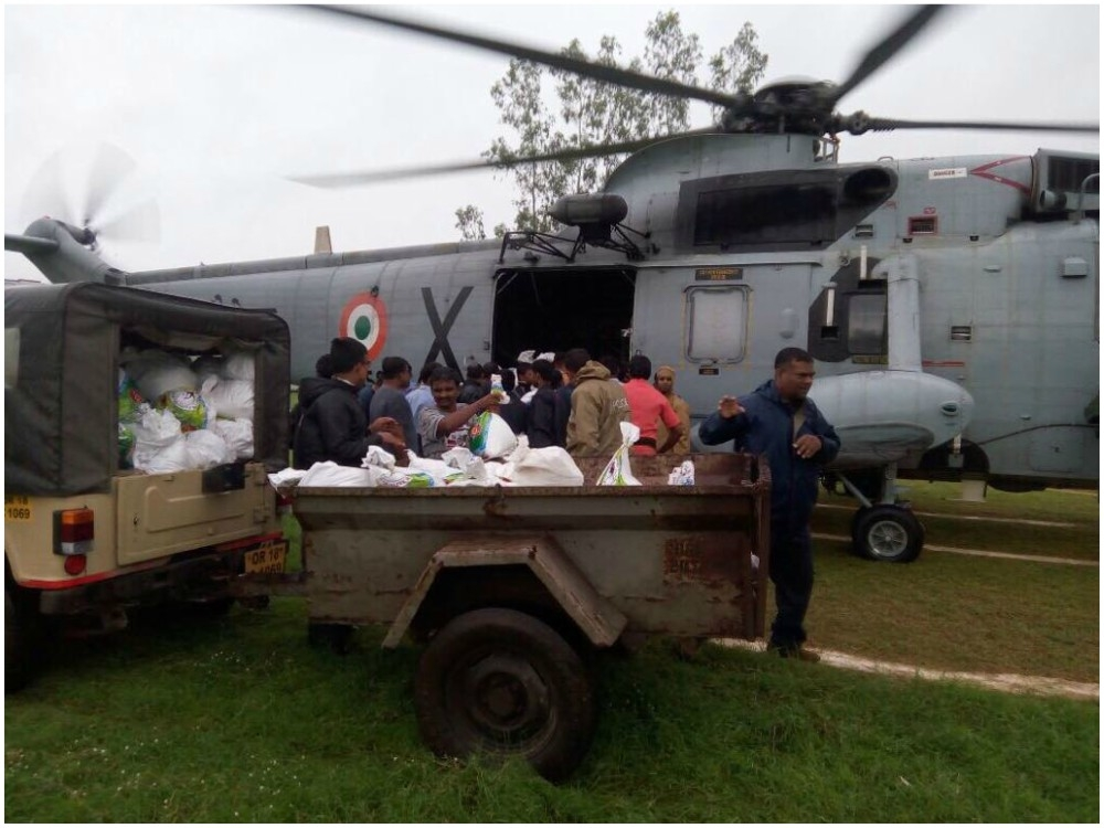 Army rushed to flood affected areas of Odisha, provided relief material